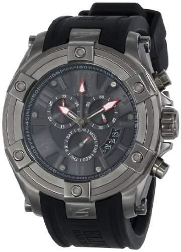 Elini Barokas Gladiator Herren-Armbanduhr 47mm Chronograph Armband Silikon Schweizer Quarz 10056-GM-014