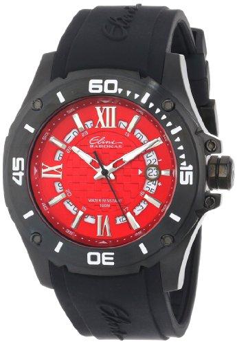 Elini Barokas Artisan Herren 46mm Kautschuk Armband Mineral Glas Uhr 10196 BB 05