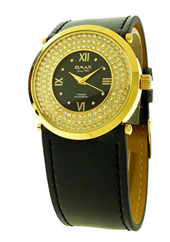Marken Uhren edler Damen Schmuck 4379 Armbanduhr Omax GoldStar