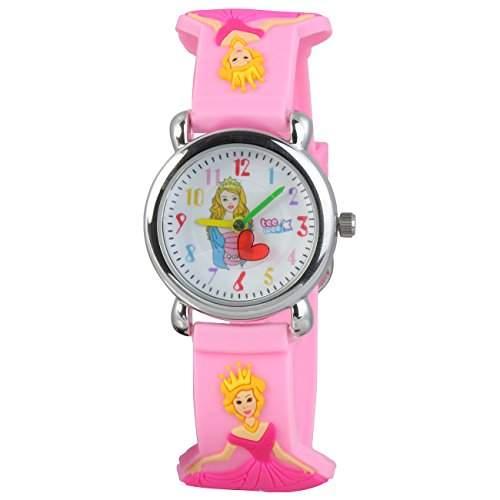 Teenie-Weenie Kinderuhr rosa Aschenbroedel 3D Kautschukband Kinder Uhren UW559A