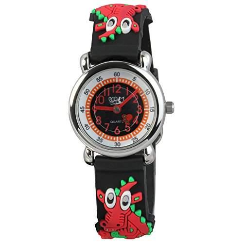 Teenie-Weenie Kinderuhr schwarz Drache 3D Kautschukband Kinder Uhren UW608S