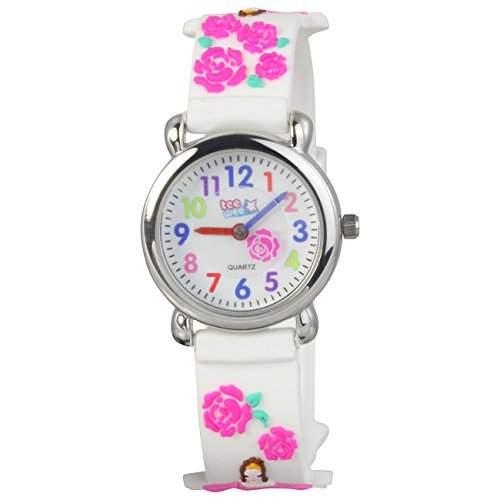 Teenie-Weenie Kinderuhr weiss Dornroeschen 3D Kautschukband Kinder Uhren UW929W