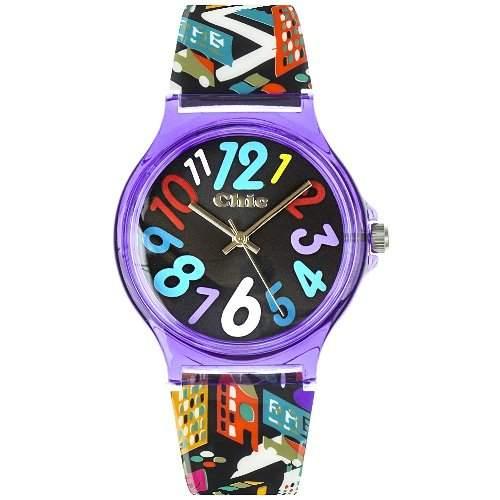 Teenie Weenie Maedchen-Armbanduhr Analog Quarz Plastik VUC006
