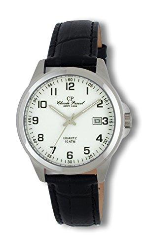 Claude Pascal Armbanduhr mit Lederband 34808561