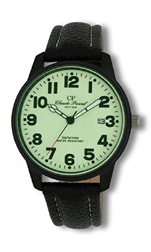 Claude Pascal Herrenarmbanduhr mit Lederband 3481805