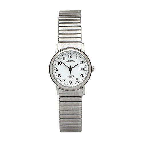 Adora mit Zugband 1 201294 001 KU2094 Ziffernblattfarbe weiss Armbandfarbe Silber