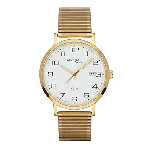 Adora Saphir Edelstahl Zugband 1 20154X 001 HAU Armbandfarbe Gold