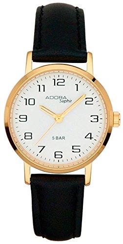 Armbanduhr Quarzuhr Analoguhr Edelstahl mit Saphirglas Adora Saphir 29099 Variante 02