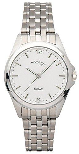 Armbanduhr Quarzuhr Analoguhr Edelstahl mit Saphirglas Adora Saphir 29095 Variante 03