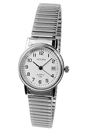 Armbanduhr Analoguhr Edelstahluhr mit Zugband Datumsanzeige Adora 28728 Variante 01