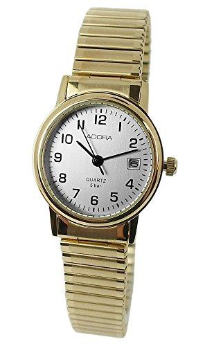 Armbanduhr Analoguhr Edelstahluhr mit Zugband Datumsanzeige Adora 28728 Variante 04