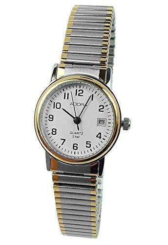 Armbanduhr Analoguhr Edelstahluhr mit Zugband Datumsanzeige Adora 28728 Variante 02
