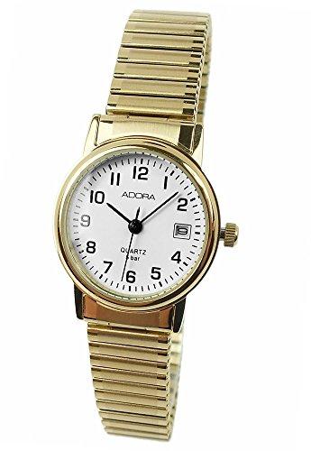 Armbanduhr Analoguhr Edelstahluhr mit Zugband Datumsanzeige Adora 28728 Variante 03