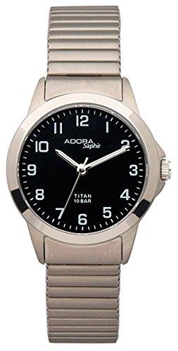 Armbanduhr Quarzuhr Analoguhr Titan mit Saphirglas Adora Saphir 29086 Variante 04