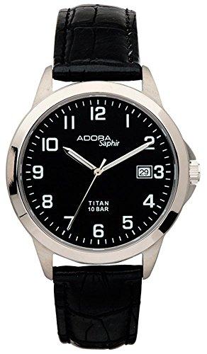 Armbanduhr Quarzuhr Analoguhr Titan mit Datumsanzeige Adora Saphir 29081 Variante 02