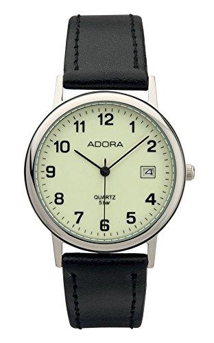 Armbanduhr Analoguhr Edelstahluhr silberfarben Adora 28403