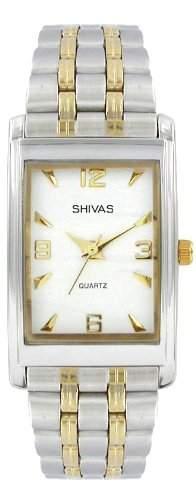 A-Shivas 18413-304 Herren-Armbanduhr Analog Metall Silber