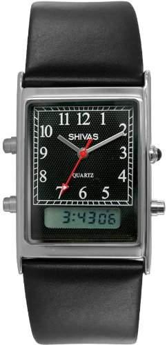 Shivas Herren-Armbanduhr Quarz Schwarz A18511-203