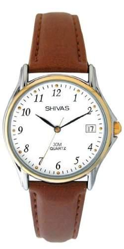 Shivas Damen-Armbanduhr Analog Quarz Braun A18762-015