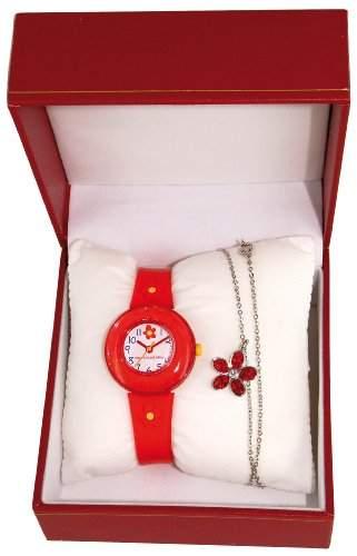 Shivas Kinder-Armbanduhr Analog Quarz Rot A21120-009
