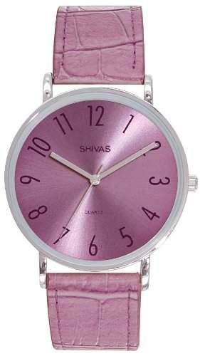 Shivas Damen-Armbanduhr Analog Quarz Violett A48491-215