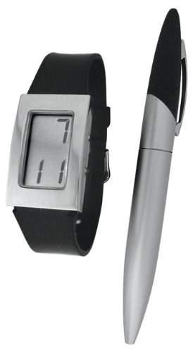 Shivas Damen-Armbanduhr Digital Quarz Schwarz D61240-003