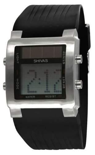 Shivas Herren-Armbanduhr Digital Quarz Schwarz D73251-001