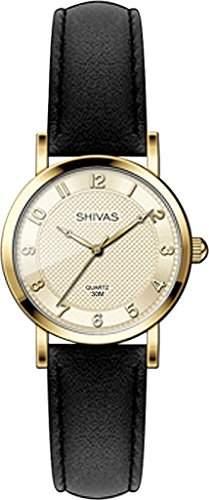 Shivas-a18882-102Damen-Armbanduhr 045J699Analog gold-Armband Leder Schwarz
