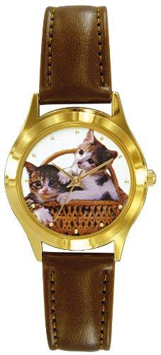 Shivas A37652 162 Zeigt Kinder Quartz Analog Weisses Ziffernblatt Armband Leder braun