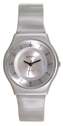 Shivas Damen Armbanduhr Analog Quarz Silber A48481 204