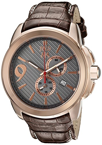 Jivago Herren jv1512 Gliese GL Analog Display Swiss Quarz Braun Armbanduhr