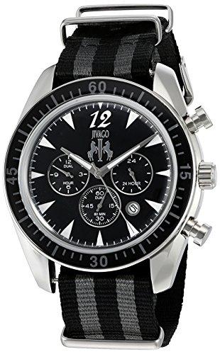 Jivago Herren Zeitlos Quarz Edelstahl und Nylon Casual Uhr Farbe zweifarbig Modell jv4511nbk