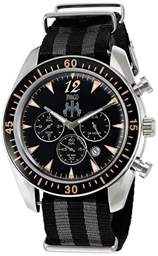 Jivago Herren Zeitlos Quarz Edelstahl und Nylon Casual Uhr Farbe zweifarbig Modell jv4513nbk