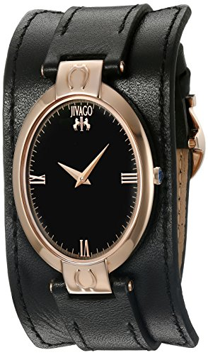 Jivago Damen jv1831 Viel Glueck Analog Display Swiss Quartz Black Watch