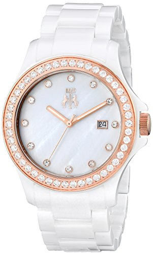 Jivago Damen jv9412 Keramik Analog Armbanduhr Display Weiss Quarz