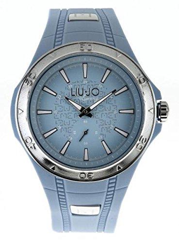 LIU JO Uhr Armbanduhr Herren camp583 Luxury Limited Edition Hellblau Silver Harz