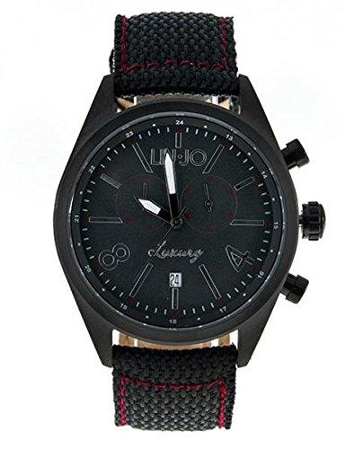 LIU JO Uhr Armbanduhr Herren camp619 Luxury Limited Edition Schwarz Stoff Stahl