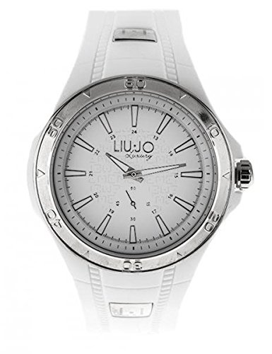 LIU JO Uhr Armbanduhr Herren camp592 Luxury Limited Edition weiss Harz Silver