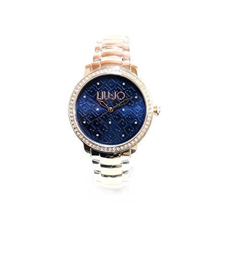 LIU JO LUXURY Fullmoon Gold Rose blau Strass wr50mt tlj906 Preisliste 169