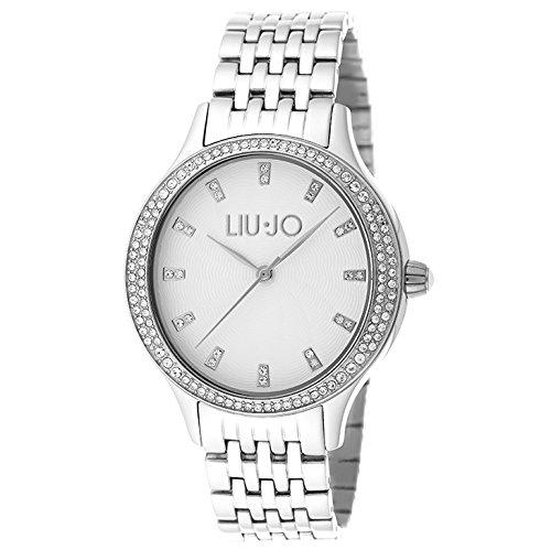 LIU JO TLJ1010 GISELLE WHITE Uhr Damenuhr Edelstahl 50m Analog silber Zirkonia
