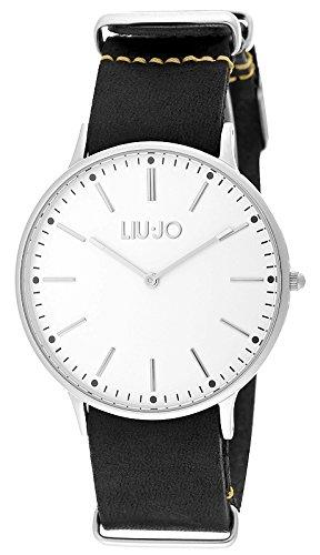 LIU JO TLJ965 NAVY WHITE Uhr Lederarmband Edelstahl 30m Analog schwarz