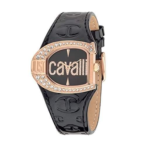 Just Cavalli Damen-Armbanduhr JC LOGO Analog Quarz Leder R7251160509