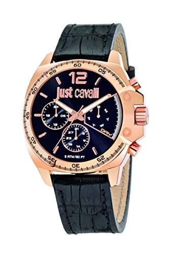 Just Cavalli Damen-Armbanduhr JUST ESCAPE Analog Quarz Leder R7251213001