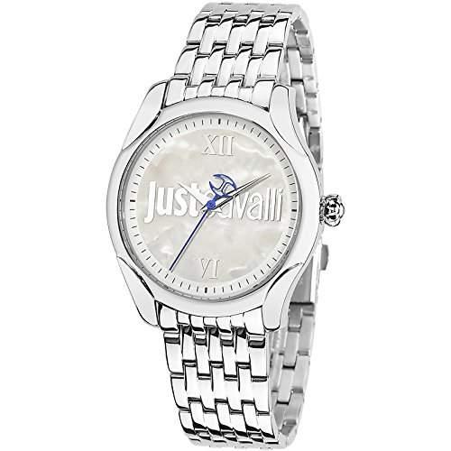 Just Cavalli Damen-Armbanduhr Analog Quarz Edelstahl R7253593503