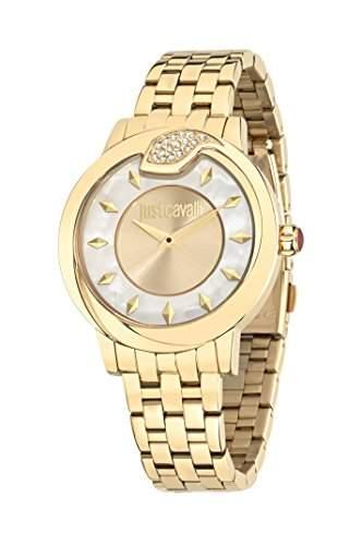Just Cavalli Damen-Armbanduhr SPIRE Analog Quarz Edelstahl R7253598502