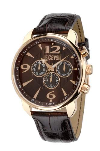 Just Cavalli Herren-Armbanduhr EARTH Analog Quarz Leder R7271681055