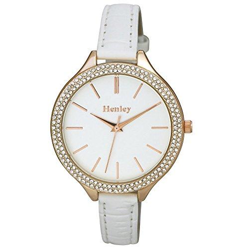 Damen Henley Slim Weiss Armbanduhr h06091 4