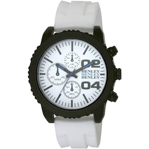Henley Herren-Armbanduhr Henley Gents Decorative Multi-Dial Sports Watch Analog silikon weiss H020564