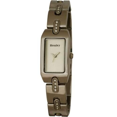 Henley Damen-Armbanduhr Analog Quarz Edelstahl H40081