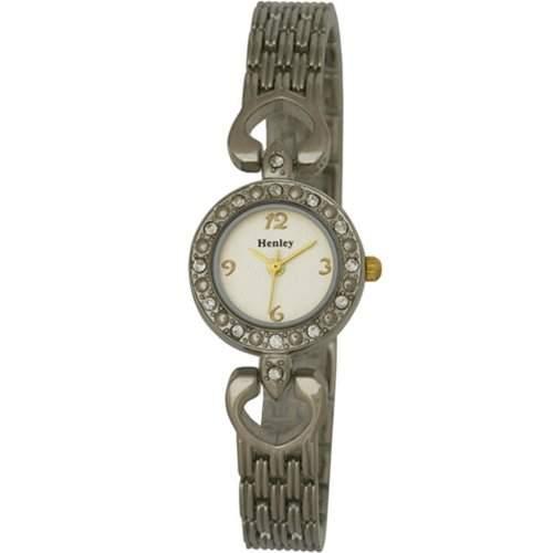 Henley Damen-Armbanduhr Henley Elegance Ladies Fashion Watch Analog edelstahl beschichtet silber H40114